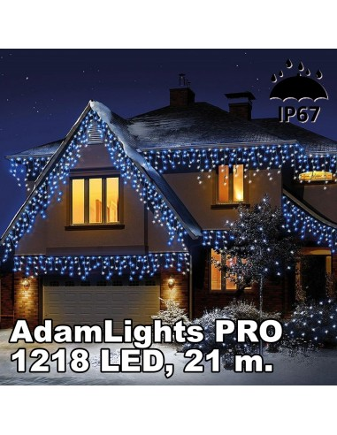 Profesionali AdamLights lauko girlianda varvekliai   IP67, 1218 LED, 2100 x 90 cm