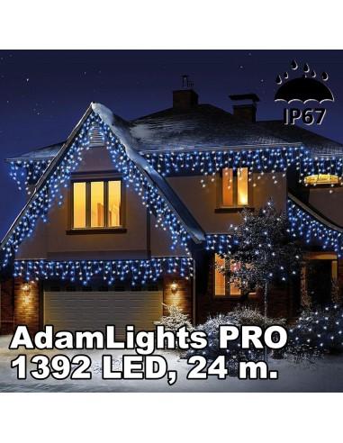 Profesionali AdamLights lauko girlianda varvekliai | IP67, 1392 LED, 2400 x 90 cm